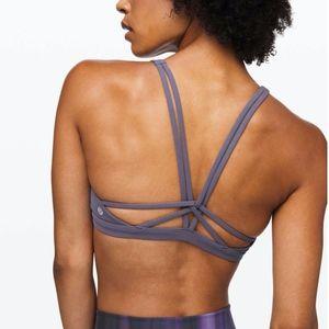 Lululemon purple gray Calm Within sports bra